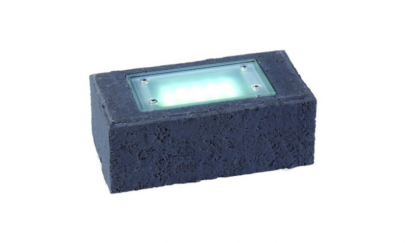 Garden Lights - Uplight Exillis Pierre anthracite (6000K | 2 W | 50lm | 12V | 200x100x75mm