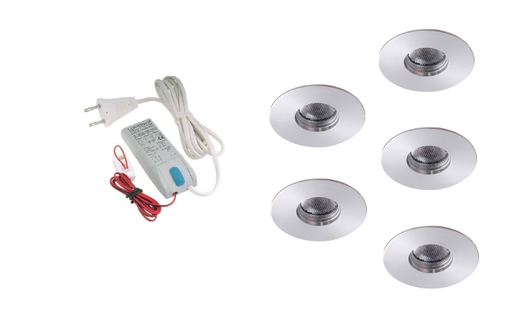 LED inbouwspot | 5 LED spots | 180Lm | Doe Het Zelf LED Kit | Warm Wit | 111B