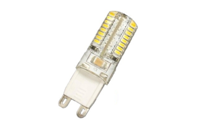 LED steeklampje | 220V | 24 SMD LED | 3W | VV 25W | Warm Wit | G9 | 300 graden
