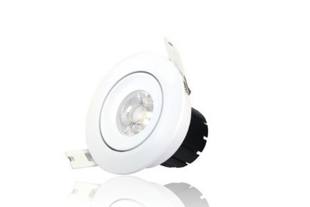 LED inbouwspot | 1 LEDs | Rond | 6,5W | Warm Wit | LW