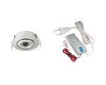 LED spotset 1x 105A geborsteld alu warm wit (2700k | 3W | 190lm | Ø43mm)