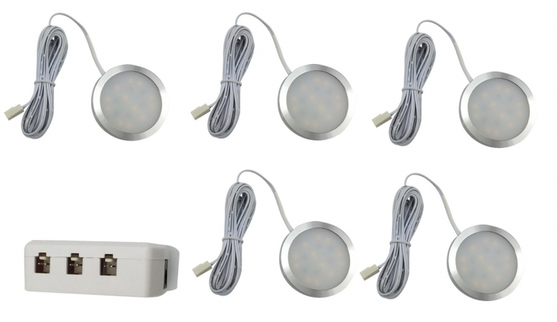 LED Kastverlichting set | 5 Lampjes | 5 x 3W | LWLS0847-5