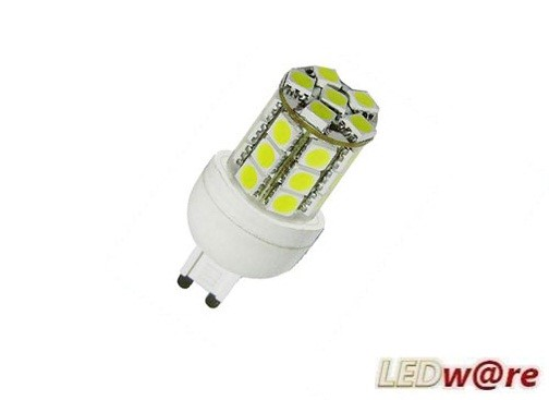 LED steeklampje | 220V | 24 LED | 5W | VV 35W | Warm Wit | G9 | 180 graden