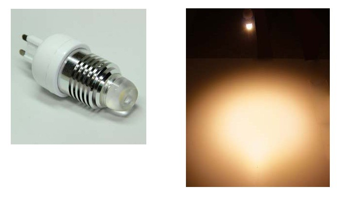 LED steeklampje | 220V | 1 Power LED | 3W | VV 25W | Warm Wit | G9 | 240 graden