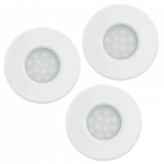 Eglo | LED inbouwspot | 3 LED Spot | 5W | Warm Wit | Wit | 400Lm