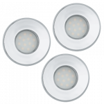 Eglo | LED inbouwspot | 3 LED Spots | 5W | Warm Wit | Chroom | 400Lm