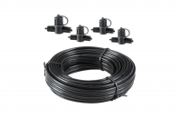 Garden Lights - 12 volt SPT-1 main cable with 4 connections, 10m