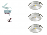 LED inbouwspot | 3 LED spots | 180Lm | Doe Het Zelf LED Kit | Warm Wit | 101A