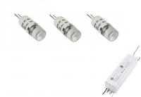 LED steeklampje | 12V | Kit 3 x 1,5W | VV 10-15W | Warm Wi