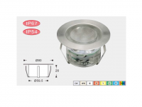 LED Grondspot | 12V | Rond | 6 x 1W | Warm Wit