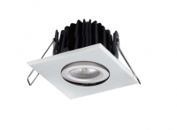 LED inbouwspot | 1 LEDs | Vierkant | 8W | Warm Wit |