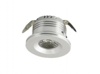 LED inbouwspot | 1 LED | Rond | 3W | 12V | Warm Wit | LWD3W101WW12V | Alu