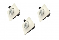 LED inbouwspot | 3 LED spots | 210Lm | Doe Het Zelf LED Kit | Warm Wit | D0304