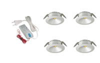 LED inbouwspot | 4 LED spots | 220Lm | Doe Het Zelf LED Kit | Warm Wit | 101A