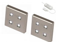 LED Kastverlichting set | 2 Lampjes | 2 x 1,4W | Vierkant