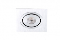 LED inbouwspot | 1 LED | Vierkant | 3W | 700mA | Warm Wit | LWLDA201SWW700 | IP