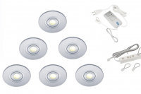 Lumoluce | Luzern + R80| LED inbouwspot | 6 LED spots | Doe Zelf LED Kit | Warm Wit