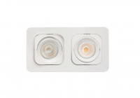 Malmbergs | LED inbouwspot | 2 LEDs | Rond | 2 x 6W | Warm Wit (2700k) | Wit | MD-125