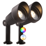 GardenLights | smart LED Spot | Focus Kit Plus | 12V | Rond | 3W | Warm Wit | 2 St